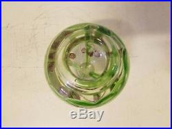 Likely Italian Art Glass Vase Paperweight with Floral Decorations