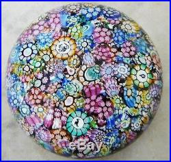 Limited Edition PERTHSHIRE Millefiori Multi-Colored Miniature Glass Paperweight