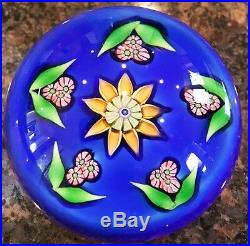 Limited Edition Perthshire Sunflower Paperweight Dated 1980 2Dia Beautiful, Box