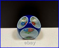 Limited Edition Saint Louis 1975 double overlay bouquet glass paperweight