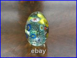 Lot 6 Paperweights Glass Hand Blown 3-g/ Sealife/ 1986 Signed Obg/lg Blue Signe