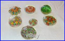 Lot of 53 glass Millefiori paperweights, Rollin Karg, Perthshire