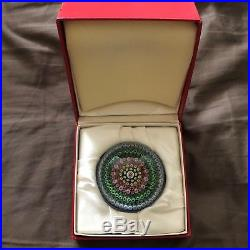 Lovely Baccarat 1978 Paperweight Mint in Original Box