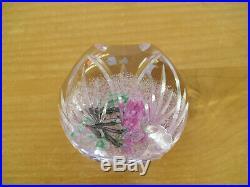 Ltd Ed Caithness QEII 80th Birthday Lampwork Rose Paperweight(8/80) 3
