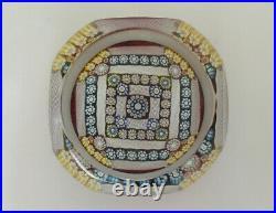 Ltd Ed Perthshire 2000 PP214 Square Design Paperweight 2 3/8