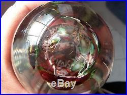 Lundberg Studios Daniel Salazar Floral Design withDragonfly Egg Paperweight 1984