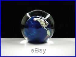 Lundberg Studios Globe Paperweight, Art Glass, 1992, signed & numbered