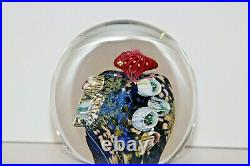 M. Stone Vitra Glass Studio Ocean Coral Reef Paperweight Signed Dated 1993
