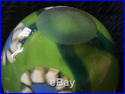 MARK PEISER American Studio Signed Art Glass Paperweight Vase 1972 010