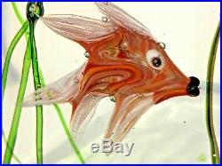 MINT condition 1950's Cenedese Murano Aquarium Paperweight by Riccardo Licata
