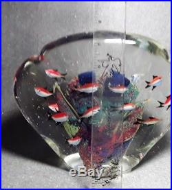 MURANO Aquarium Art Glass Paperweight Sculpture Angel Fish Large