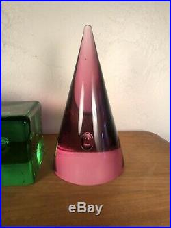 MURANO OGGETTI Sculpture Art Glass PAPERWEIGHT Signed. Barbini
