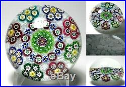 Magnum Parabelle 1995 Ltd Ed Patterned Millefiori Garland Paperweight Pansies