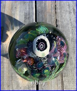 Mark Eckstrand Signed Art Glass 4 Huge Sea Aquarium Coral Paperweight 1992