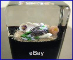 Mayaeul Ward Glass Paperweight. Cube from 1991