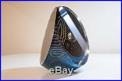 Michael David and Kit Karbler Art Glass Paperweight Sculpture 5.5 tall