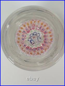 Millefiori Glass Paperweight Inkwell Bottle, Appr. 14.2 Cm High