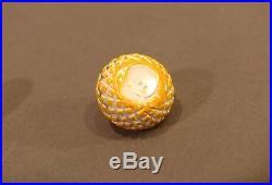 Miniature John Gooderham Double Overlay Poore Banford Basket Cut Paperweight J