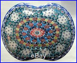 Modern Saint Louis Basket of Flowers Homage to the antique Clichy Paperweight