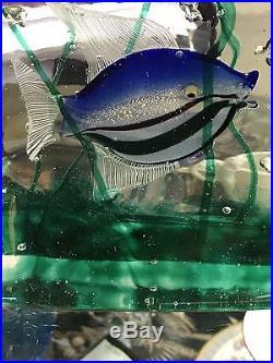 Murano Art Glass Fish Aquarium Paperweight Sculpture