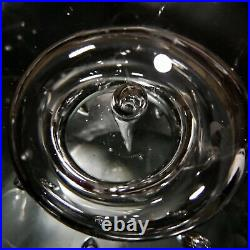 Murano Controlled Bubble Art Glass Sphere Orb Paperweight 6x6 9Lbs Oggetti