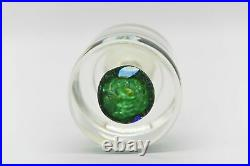 Murano Fratelli Toso Art Glass Paperweight Scattered Millefiori Cylinder Knob