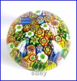 Murano Glas Briefbeschwerer Millefiori Venetian Glass Paperweight Italy RARE +