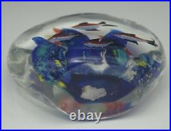 Murano Glass Fish Aquarium Block Paperweight