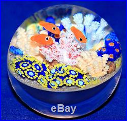 NEW! Cathy RICHARDSON Blue Eagle Eyes Coral Reef Paperweight 1/1