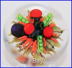 NEW Ken Rosenfeld Lampworked Veggie Art Glass Paperweight