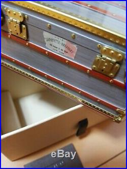 New Auth LOUIS VUITTON Novelty Trunk Jewelry Case Jewelry Box Paper Weight LV