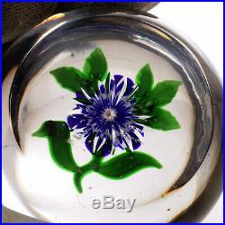 Nice Antique BACCARAT Blue/White Primrose with Star-Cut Base