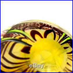 ORIENT AND FLUME Floral Glass Paperweight 3 Signed C140 K 1978 Beautiful
