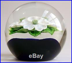 ORIENT & FLUME Flowering Art Glass Paperweight by GREG HELD Limited 26/250'80s