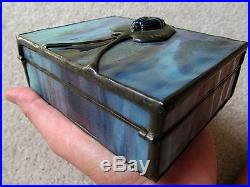 Orient Flume Stained Glass Box Scarab Beetle Signed / Dated 1977