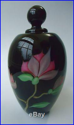 ORIENT & FLUME Vintage Art Glass PERFUME BOTTLE Paperweight Ed ALEXANDER signed