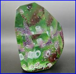 Ocean Coral Reef with Octopus Art Glass 1986 Sculpture/Paperweight, Apr 6Wx5.5H
