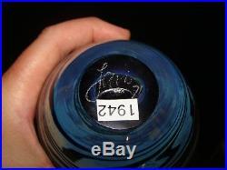 Old 1971 Signed Dated John Lewis Art Glass Studio Moon Bottle Vase Grover