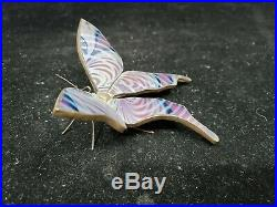 Orient And Flume Art Glass and Bronze Butterfly Figurine/Paperweight