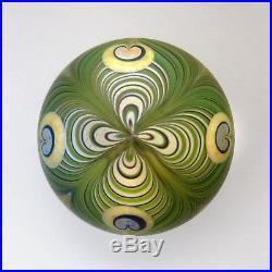 Orient & Flume 1979 art nouveau style glass paperweight / presse papiers