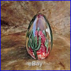 Orient Flume Art Glass CACTUS Paperweight/Signed Beyers & Numbered/EXCELLENT