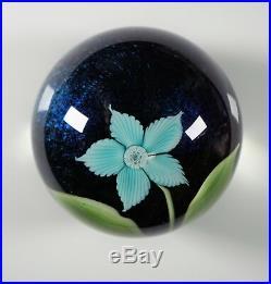 Orient & Flume Art Glass Paperweight 1978 Flower