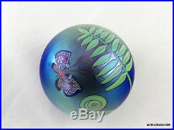 Orient & Flume Butterfly and Ferns Paperweight by Bruce Sillars 1984 Date Cane