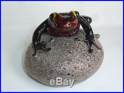 Orient & Flume David Smallhouse Poison Dart RED Frog Paperweight LE EC #252