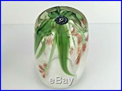 Orient & Flume Floral Paperweight Vase Signed M. Quinn Numbered