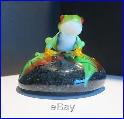 Orient & Flume Frog Paperweight / figurine by David Smallhouse signed & numbered