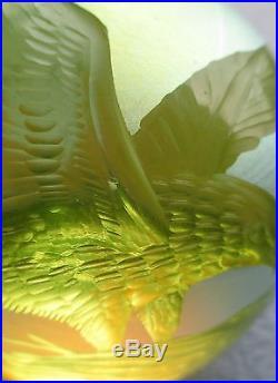Orient & Flume Hand Etched Eagles Paperweight Artist Lubomir Richter Ltd Ed