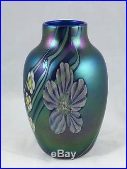 Orient & Flume Iridescent Blue Vase