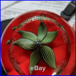 Orient & Flume Red Poppy Signed Paperweight Stunning