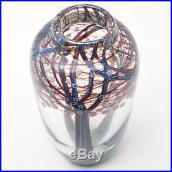 Orient & Flume Studio Art Glass Paperweight Millefiori Hawthorne Tree Vase